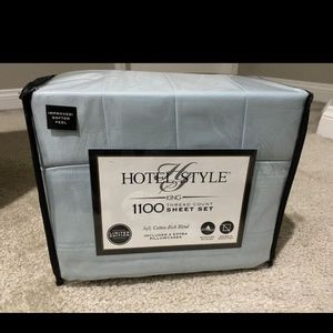 Hotel style sheets 1100 thread count